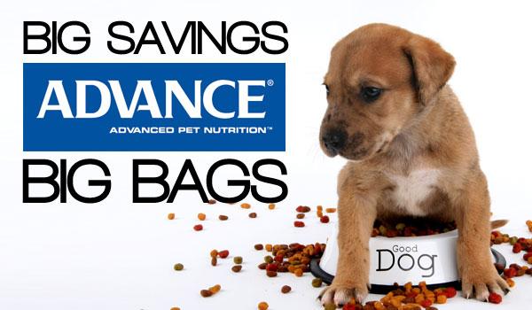Save $20 on BIG bags of ADVANCE Premium Pet Foods