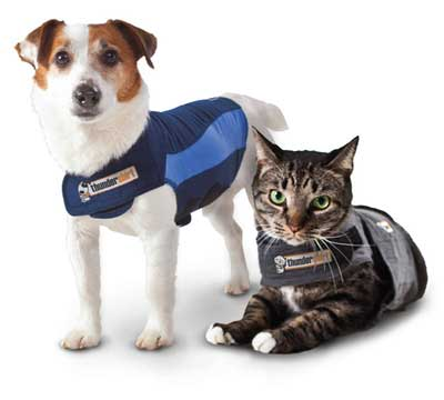 The Thundershirt is suitable for both dogs and cats.