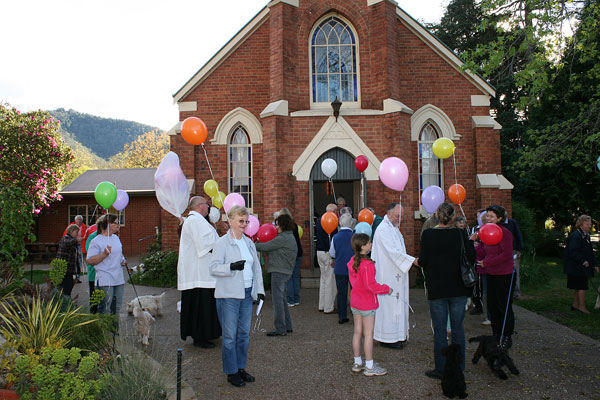 Families and their pets at the 2014 Blessing of the Animals