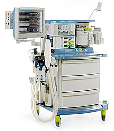 One of the anaesthesia machines used in our operating theatres.