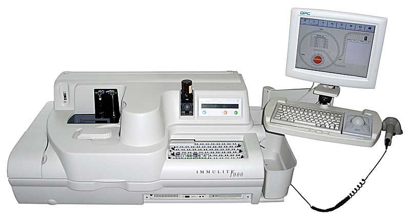 Our Immulite 1000 immunoassay machine is capable of carrying out more than 75 pathology tests